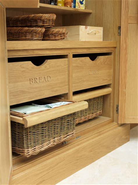 wicker kitchen storage baskets finishing touches charles yorke luxury designer kitchens 1521