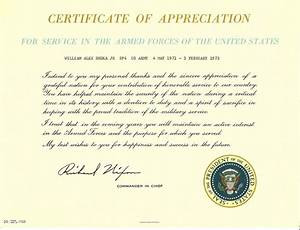Certificate Of Appreciation Da Form 7013 Image collections  Certificate design and template