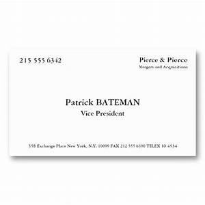 157 best american psycho images on pinterest ha ha for Patrick bateman business card quote