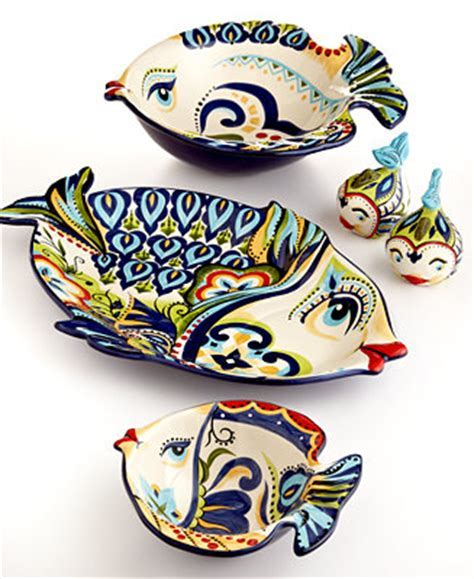 Espana Bocca Geo Fish Collection Serveware Dining & Entertaining Macy's