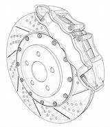 Disc Brake Outline Rendering Brakes Illustrations Clip sketch template
