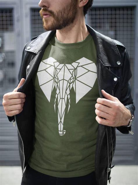 Cool Geometric Elephant T Shirt By Stencilize | notonthehighstreet.com