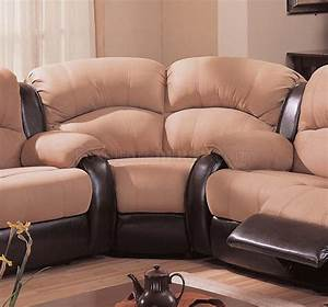 two tone mocha dark brown modern reclining sectional sofa With mocha brown microfiber reclining sectional sofa