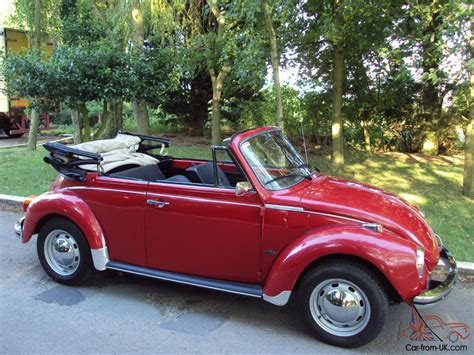 red volkswagen convertible vw beetle karmann cabriolet volkswagen 1303 s red convertible