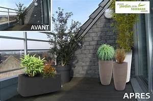 amenagement dun balcon terrasse contemporain monjardin With exemple d amenagement de jardin 4 creer une haie fleurie monjardin materrasse
