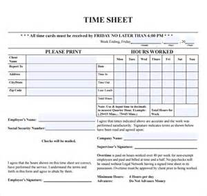 Attorney Time Sheets Template