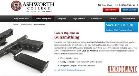 ashworth college offers gun club membership  gunsmith