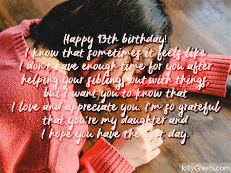 To my cute little doll. 13th Birthday Wishes for Daughter
