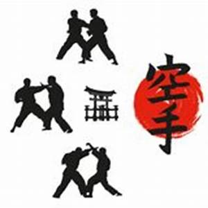 Japanese Flag With Set Of Martial Arts Symbols Royalty ...
