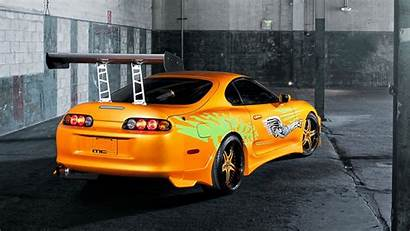 Supra Toyota Yellow Sports Wallpapers Coupe Dog