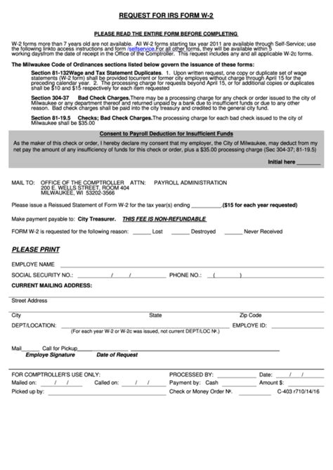 fillable request for irs form w 2 printable pdf download