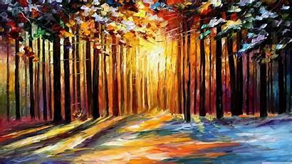 Afremov Painting Forest Leonid 4k Paintings Desktop