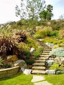 comment avoir un joli jardin en pente jolies idees en With escalier jardin en pente