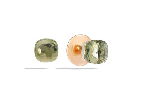 pomellato nudo earrings pomellato quot nudo quot stud earrings with prasiolite 18k
