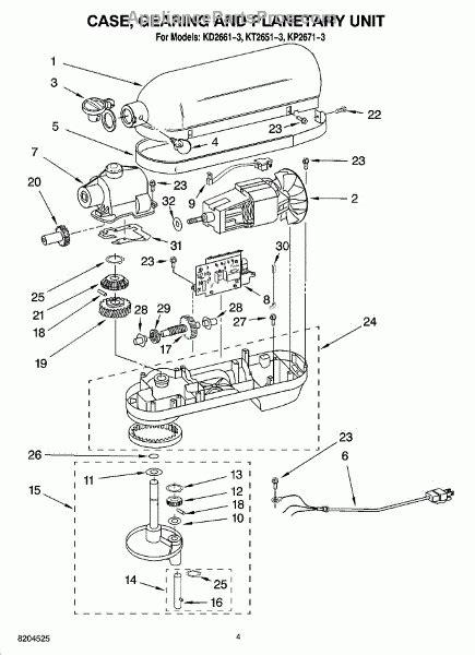 Kitchenaid Professional Parts Diagram Automotive