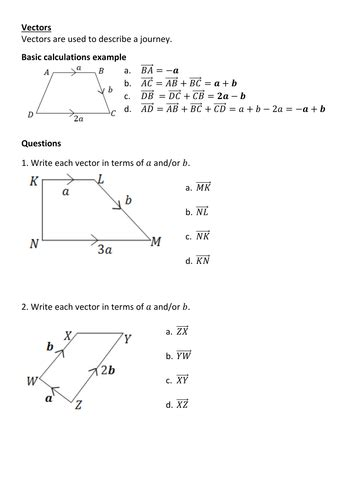 Vectors Revision By Frazzled22  Teaching Resources Tes