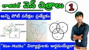 Logical Venn Diagram Reasoning Tricks In Telugu Part 1
