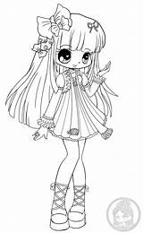 Chibi Yampuff Chibis Annabelle Chloe Lineart Mini Coloring Pages Fairy Stuff Marianna Cherry sketch template