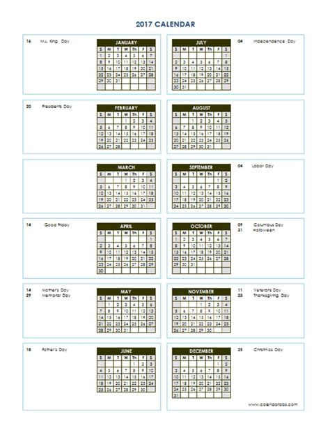 yearly calendar template vertical printable templates