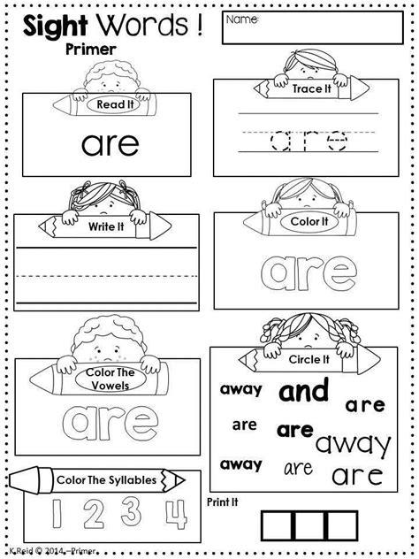literacy activities sight words preschool sight words