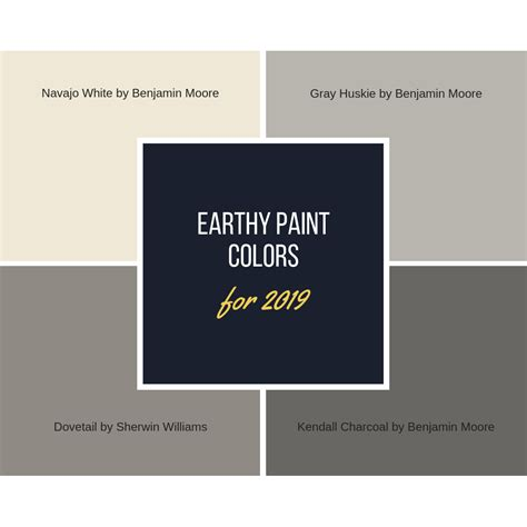 4 beautiful earth tone paint colors for your home in 2019