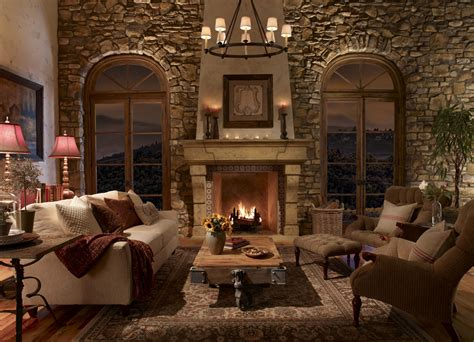 Interior Stone Fireplace Designs