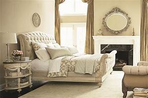 Glorious Bedroom Fireplace Mirror With White Tufted Bed