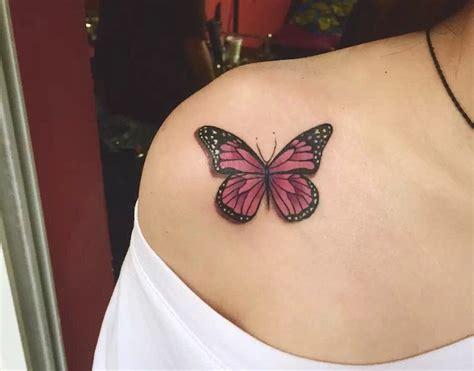 Exemple De Tatouage De Papillon En Noir Et Blanc Tatouage