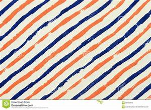 Blue And Orange Striped Background. Stock Photo - Image ...