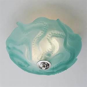 Octopus glass ceiling light flush mount lighting