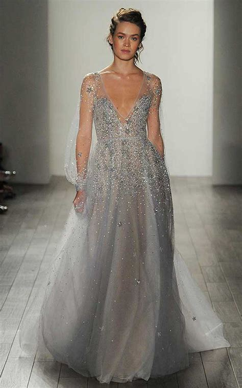 19 Silver Colored Wedding Dresses That Left Us Breathless - Asia Wedding Network