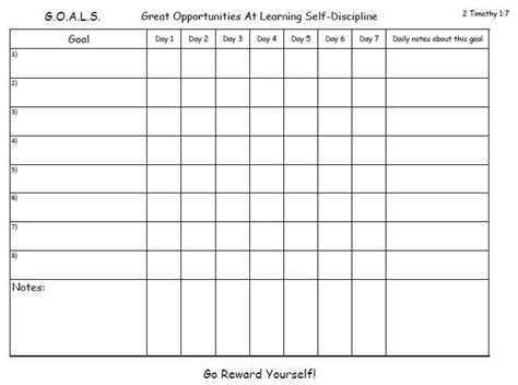 printable goal charts template business psd excel
