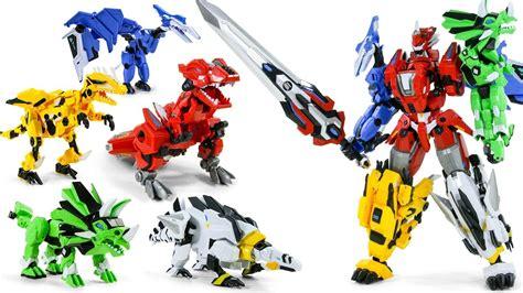 dragonforce combine otto tyranno steago ptera ankylo raptor dinosaur robot toys youtube