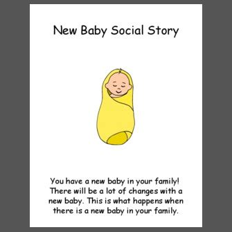 New Baby Social Story