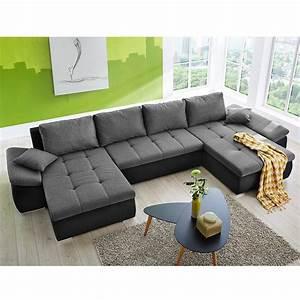 Wohnlandschaft In U Form : wohnlandschaft torino sofa in u form schwarz anthrazit 400x179 cm ~ Frokenaadalensverden.com Haus und Dekorationen