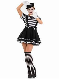 Female Mime Costume Fancy Dress And Party