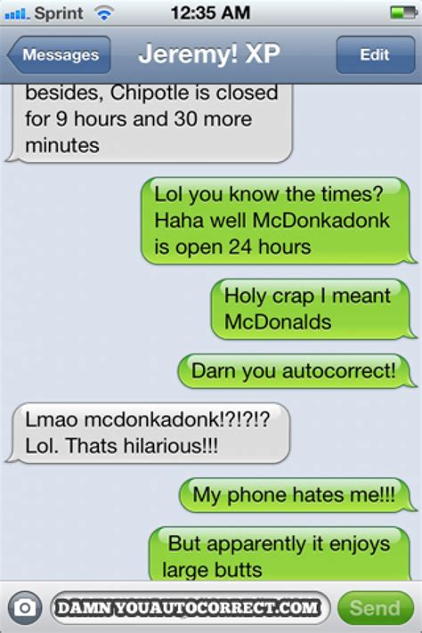 Funny Text Memes - mcdonalds funny text