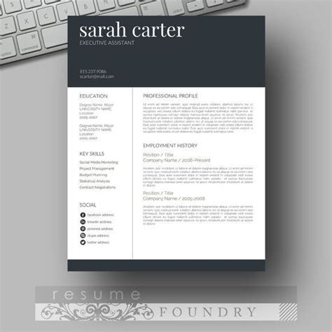 Eye Catching Resume Templates Microsoft Word by 1000 Ideas About Creative Cv Template On