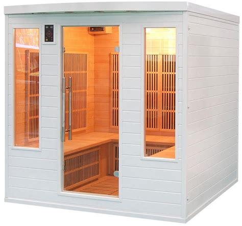 sauna infrarouge soleil blanc 4s de 5 places france sauna