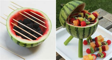 rezept einfacher bastel tipp fürs wochenende baut euch einen melonen grill klonblog