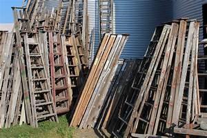 Old, Vintage, Ladder, Assortment, Wooden, Ladders, For, Decorating