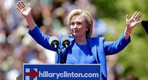 Hillary comes out fighting in campaign kickoff rally ...