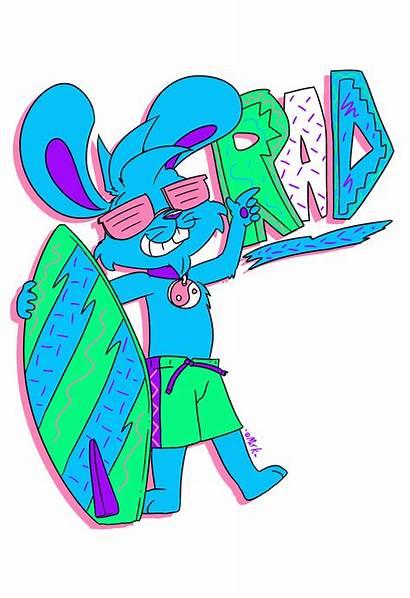 Bunny Surf Gnarly Dayglo Machu Smurfs Weasyl