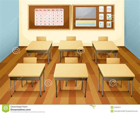 Classroom Stock Illustration. Image Of Graphic, Stick