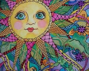 Love hippie art!   Sun ☀ Moon☾earth   Pinterest