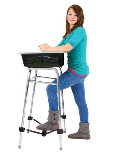 standing desks for students this really works a standing desk with a band to kick