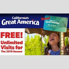 Free 20182019 California's Great America Prek Season Pass Hunt4freebies