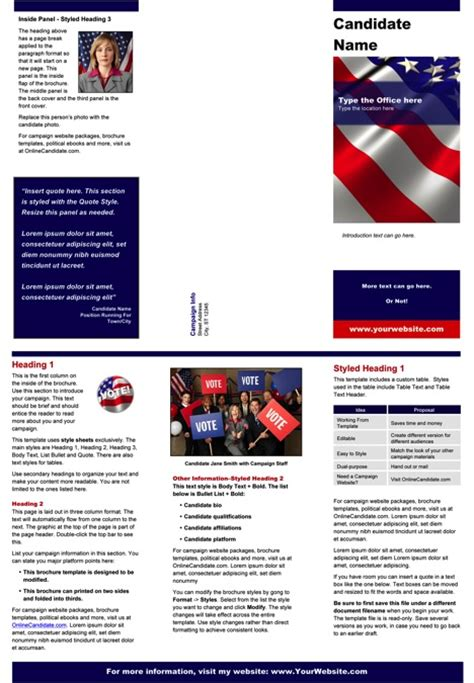 political print templates red white  blue theme