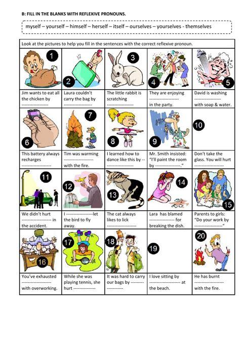 reflexive pronouns  interactive worksheet