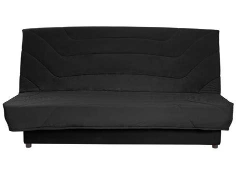 conforama canapé lit clic clac banquette clic clac en tissu coloris noir vente de